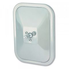 Grote Rolled-Rim Mirror w/Swivel, Stainless Steel - 12073