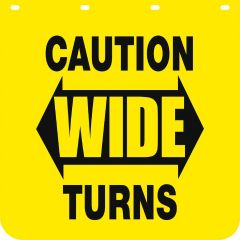 Match Made 24 x 30 In. Caution Wide Turn Mud Flap - APL-101119WIDET