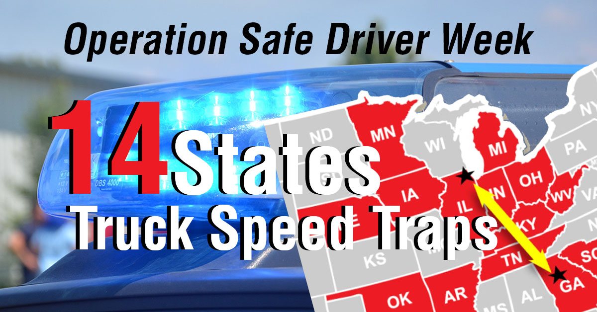 Top States For Truck Speed Traps