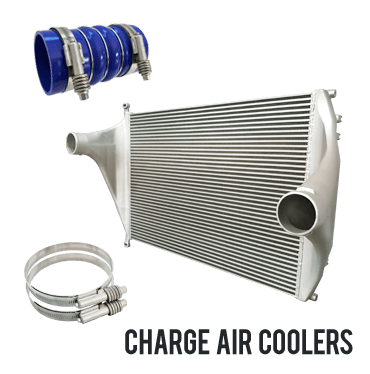 Redline charge air coolers and charge air cooler hoses